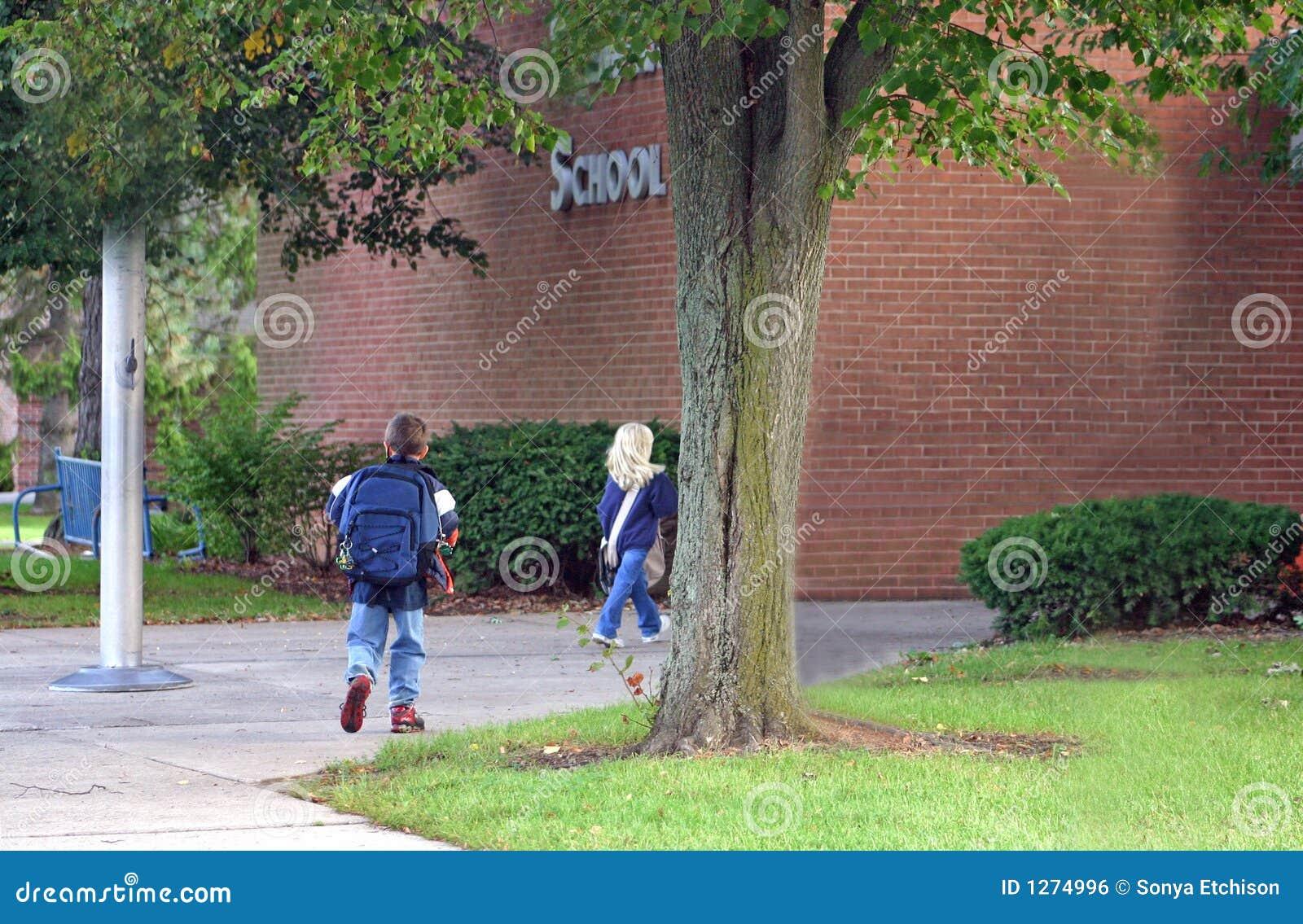 Kids Going into School