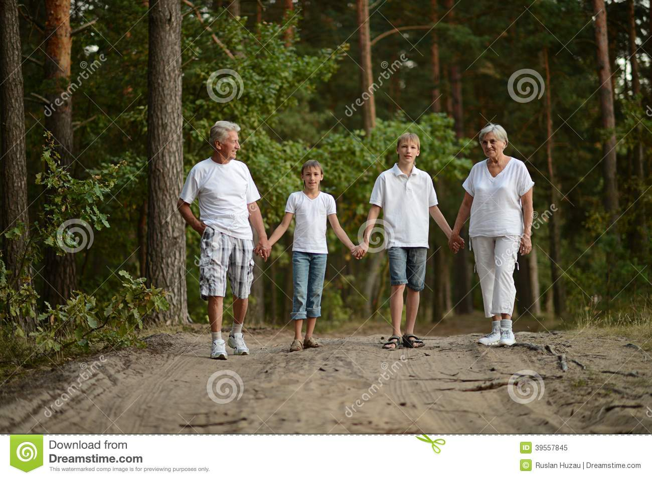 kids with grandparents stock image. image of granddaughter - 39557845