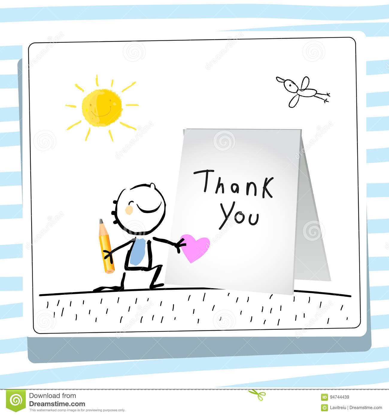 Kids gratefulness thank you card