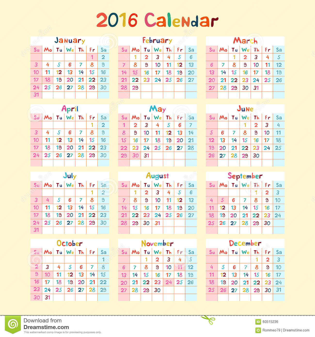 Calendar Made By Kids : Kids hand made calendar on year stock vector image