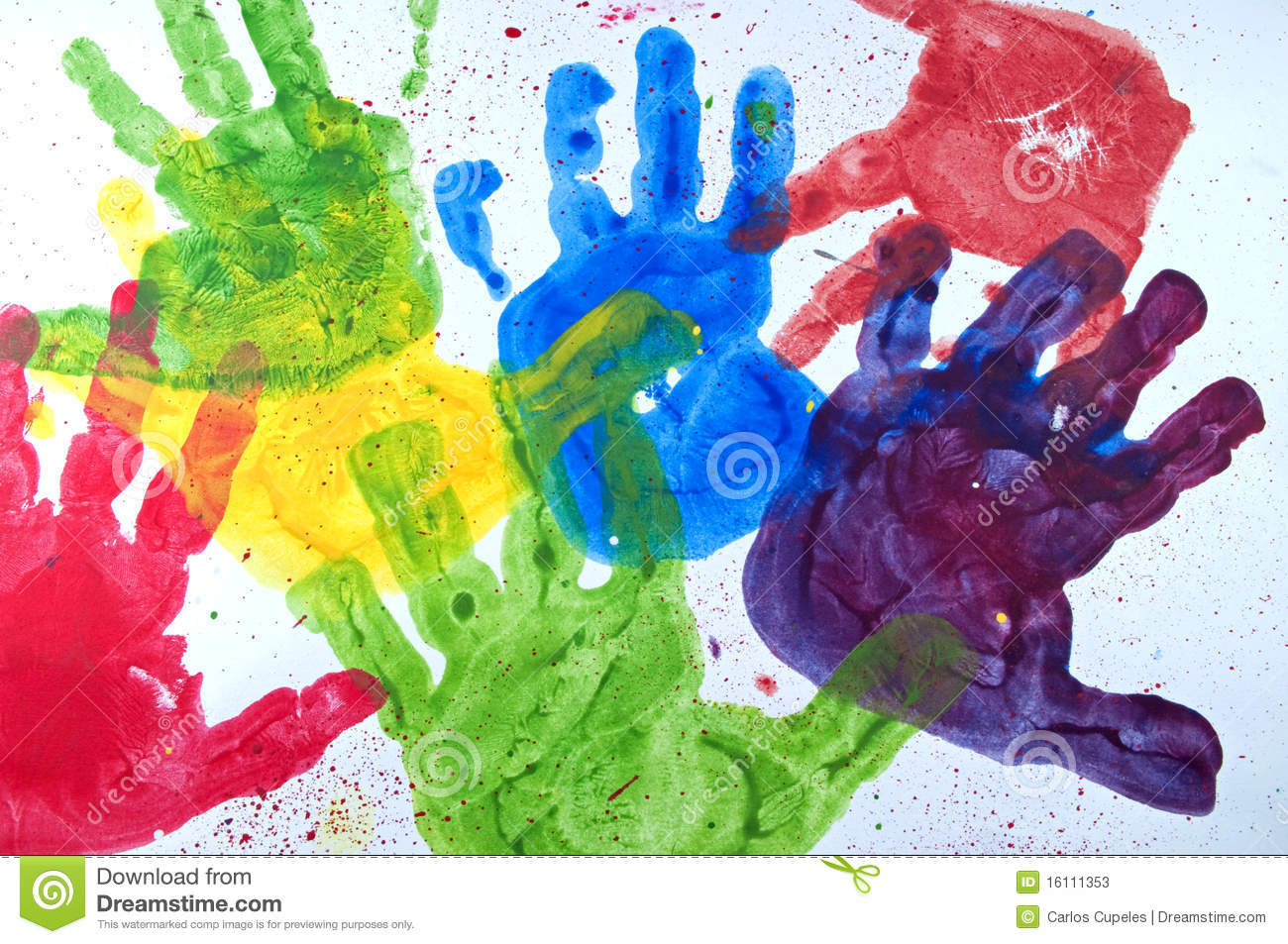 kids hand paint stock photos - Kids Paint Free