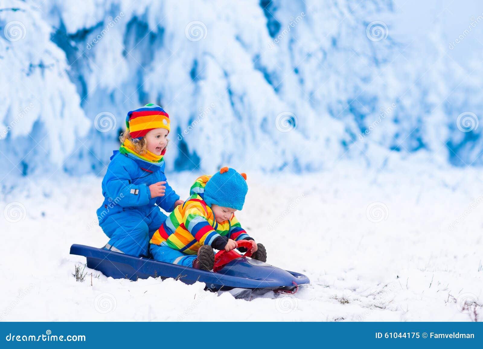 Fun Kids Area Outdoors Winter