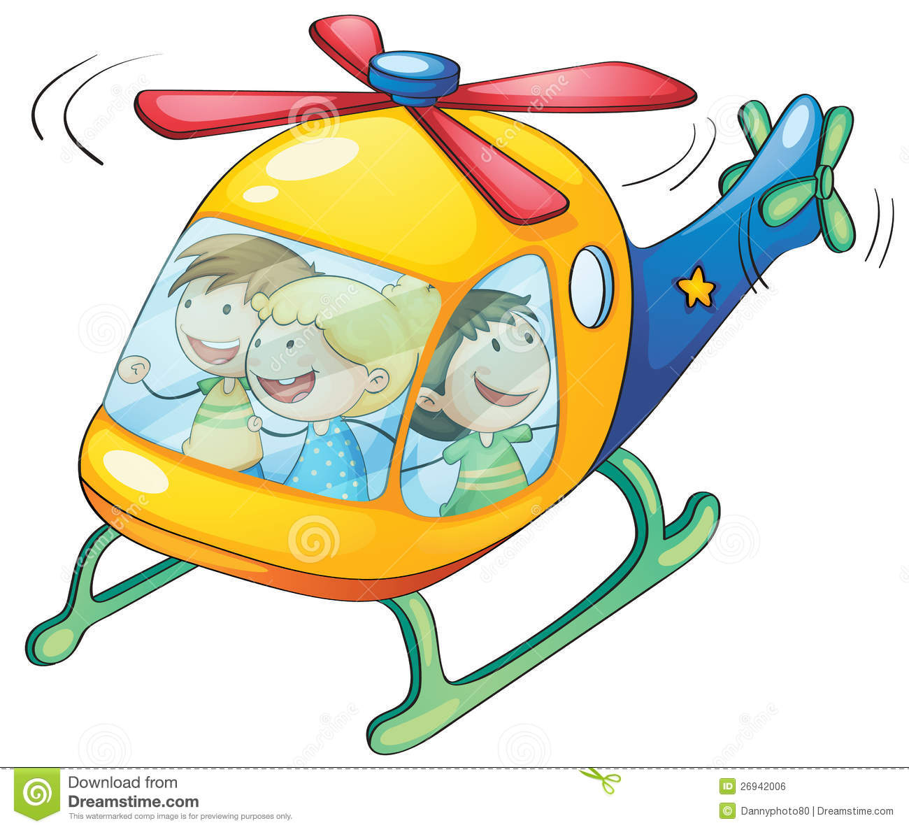 Elicottero Immagini Per Bambini : Kids in a helicopter royalty free stock image