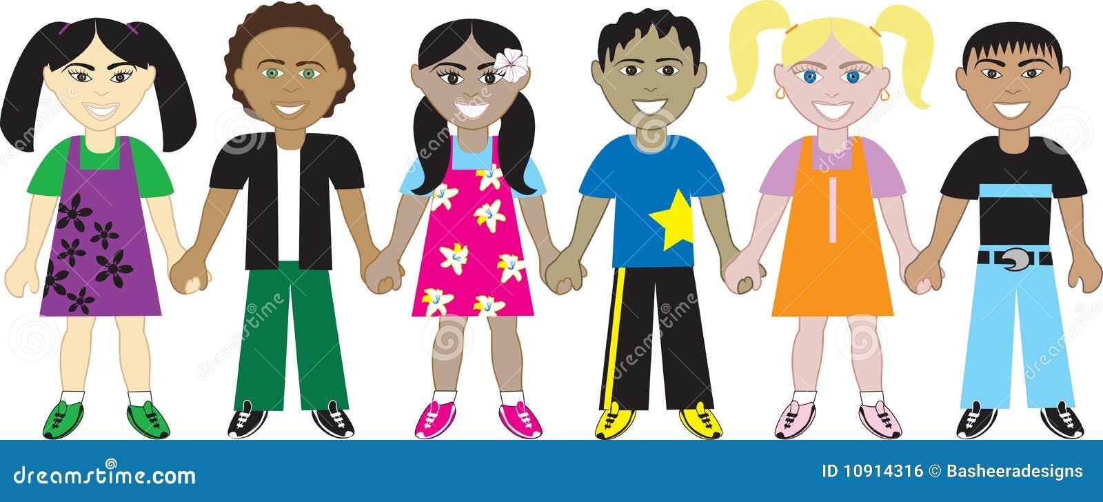 Kids Holding Hands 4 Stock Vector Image Of East European