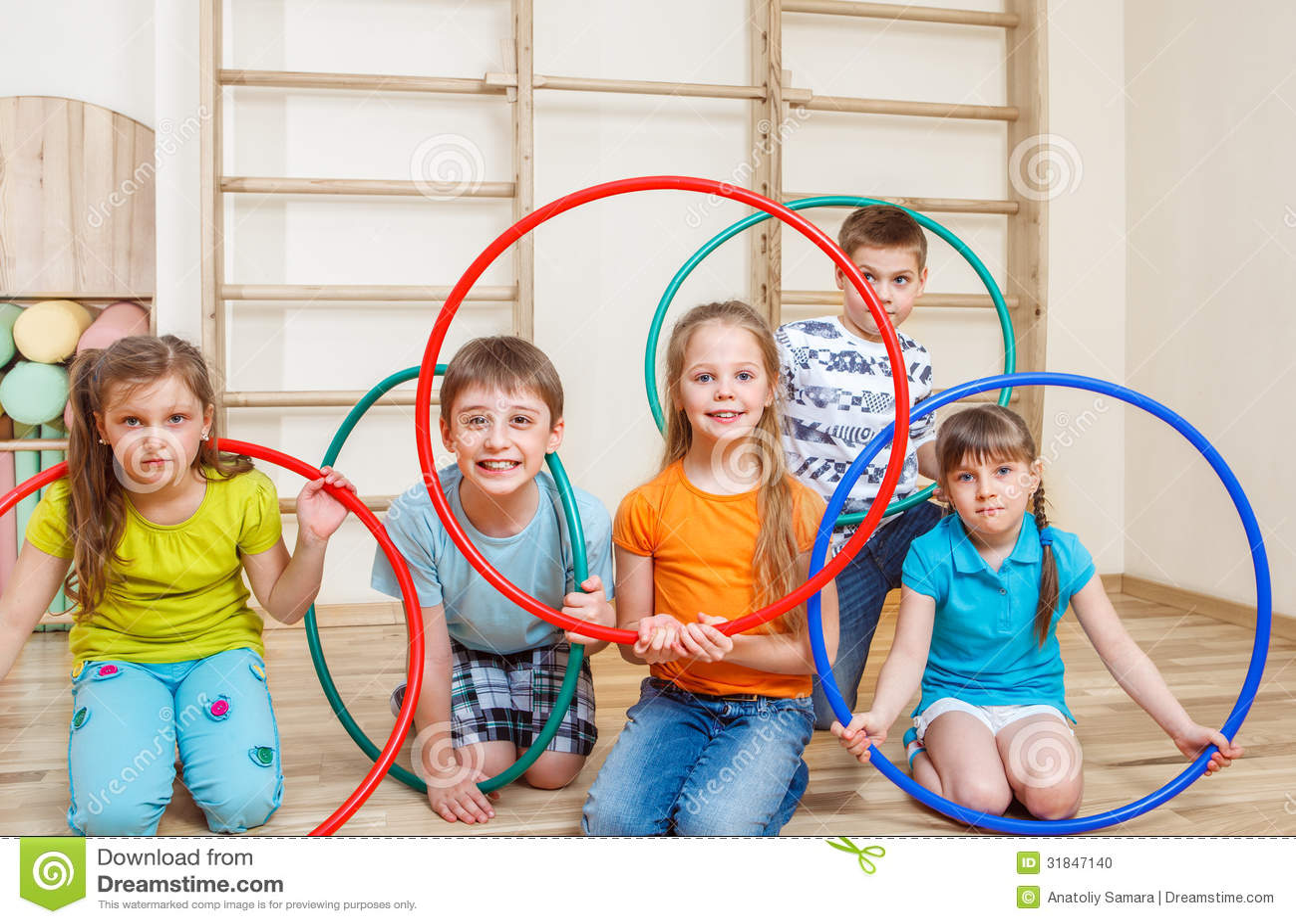 kids holding hula hoops stock photo image of beautiful. Black Bedroom Furniture Sets. Home Design Ideas