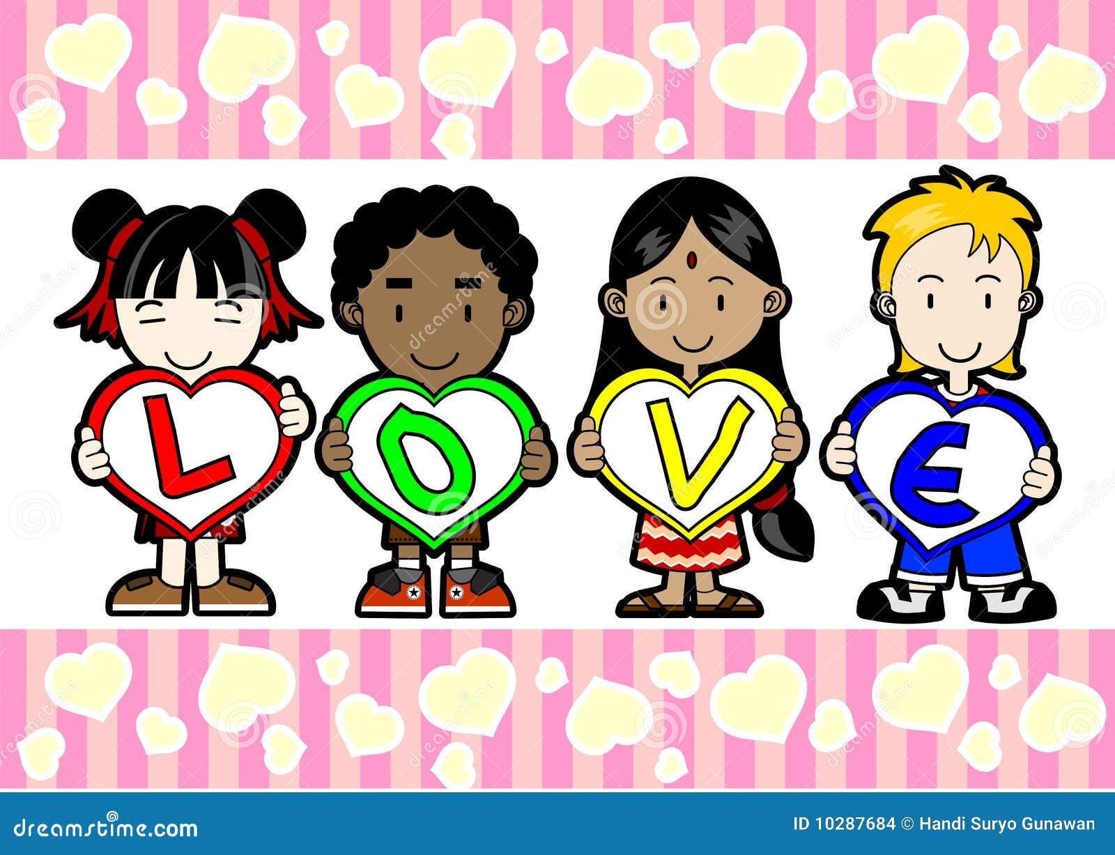 Kids Holding Love Letter Stock Images Image 10287684