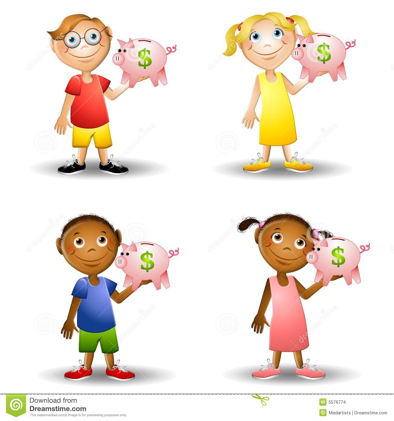 Kids holding piggy banks stock images image 5576774 for Piggy bank for toddlers