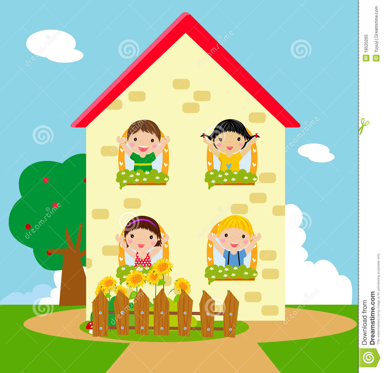 Kids and house royalty free stock photo image 18520265 for House pictures for kids