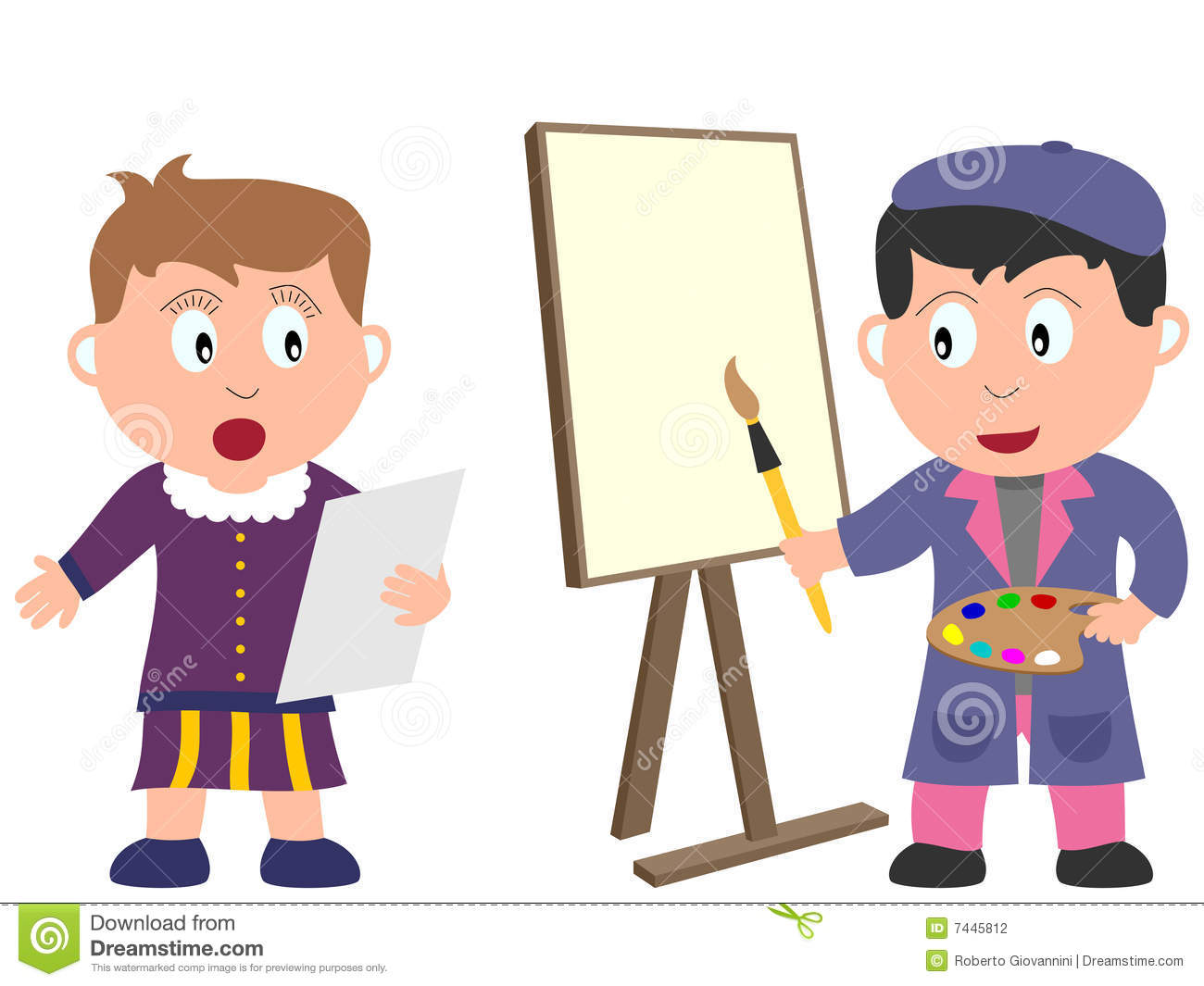 Kids and jobs art 2 stock vector illustration of bard for Arts and craft jobs