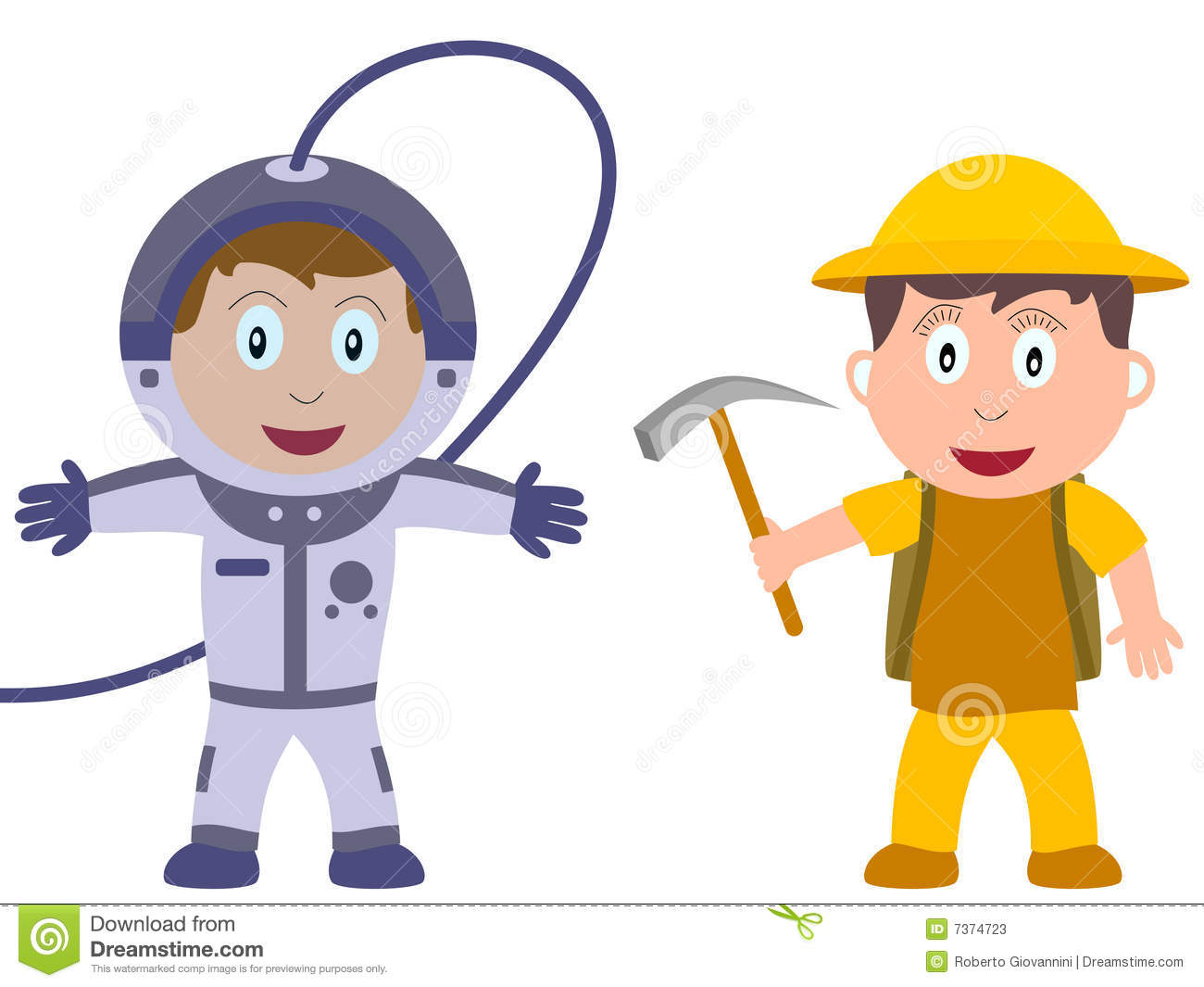 Kids and Jobs - Discovery stock vector. Image of cartoons ...