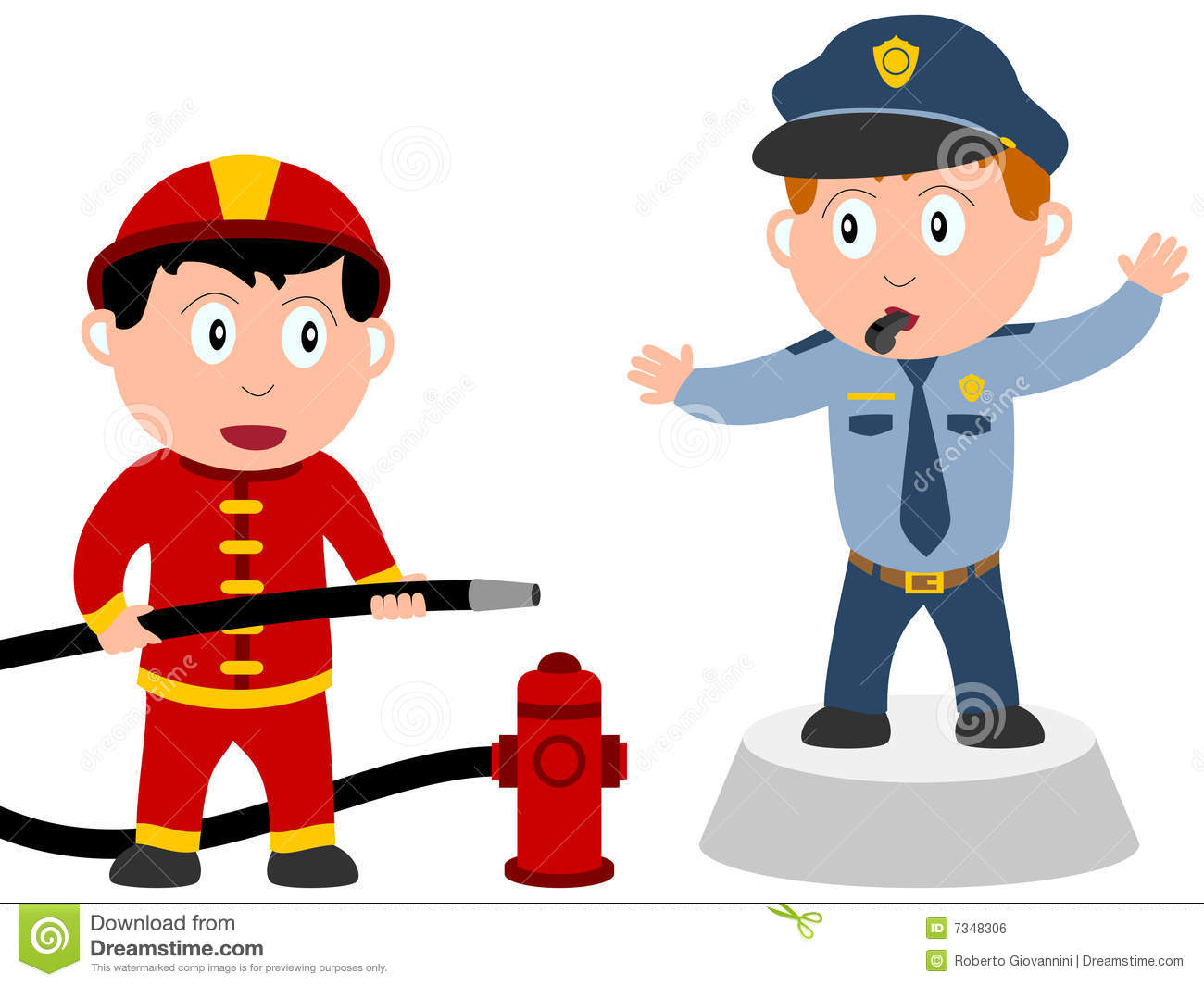 kids and jobs order  2  stock vector illustration of Firefighter Symbol Clip Art Cartoon Fireman Pole