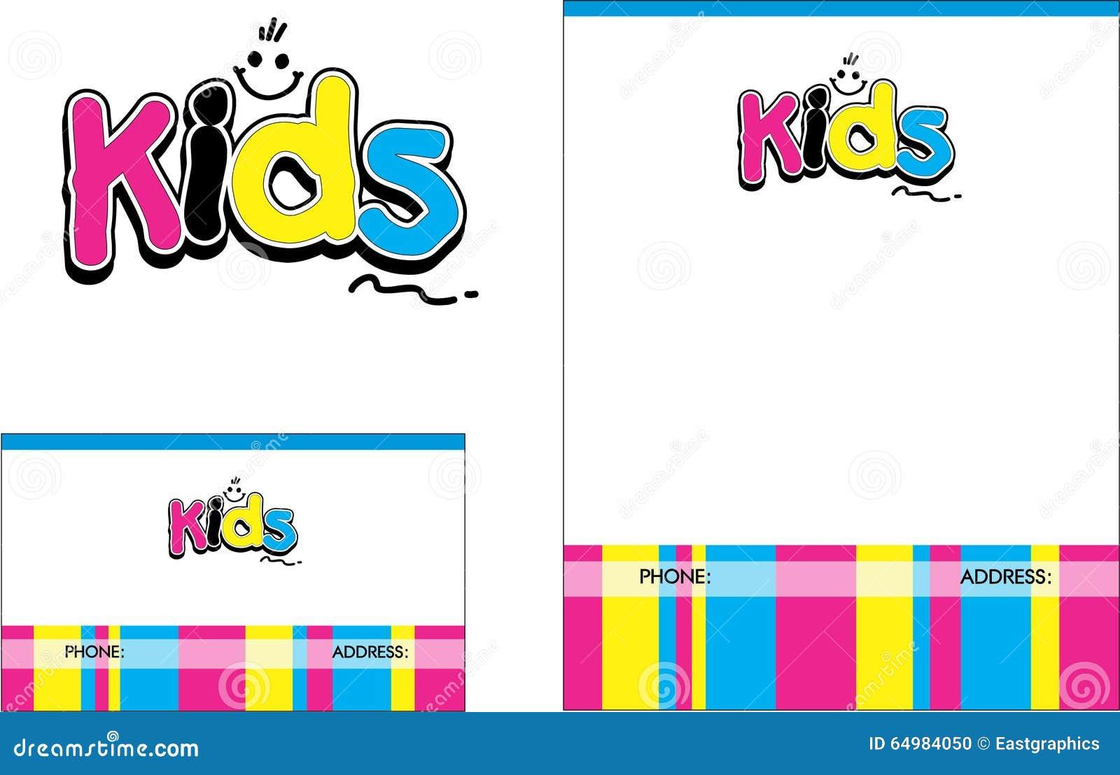 Kids Learning Center School Education Logo, Business Card ,Flyer ...