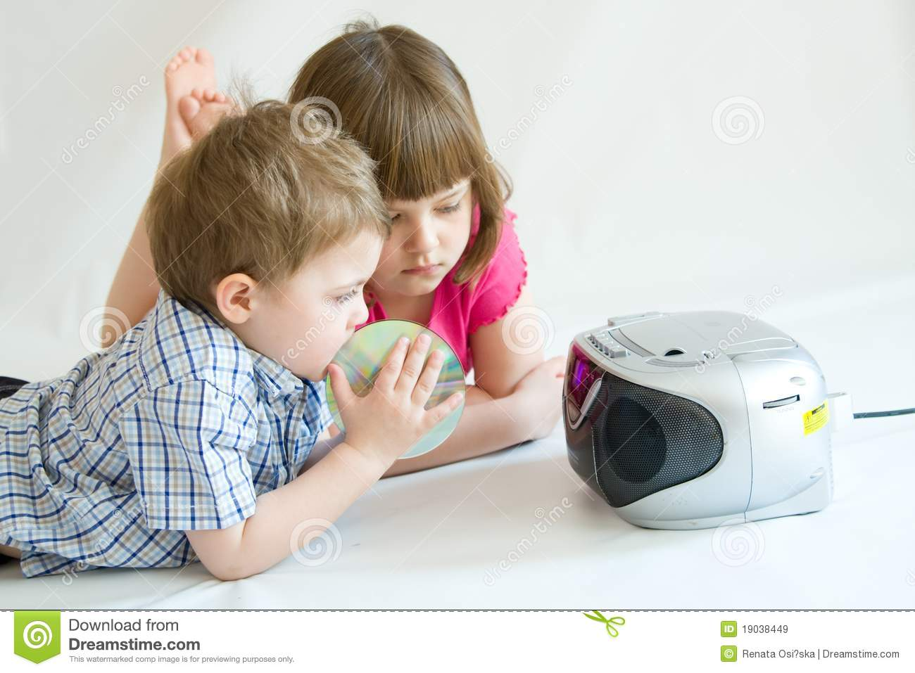 Royalty free stock images kids listening