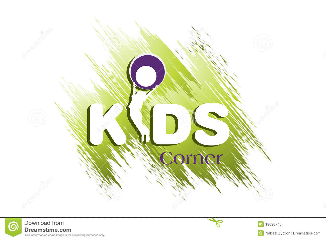 Stock photo kids logo design