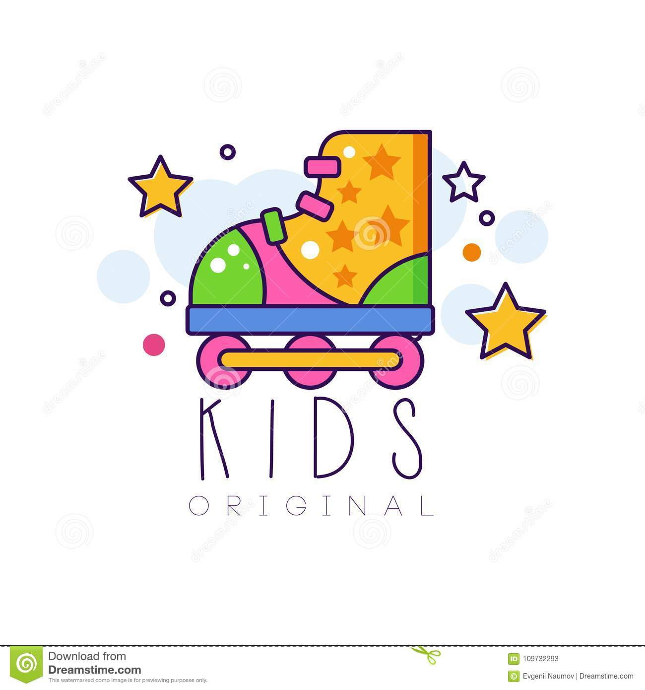 kids logo original creative concept template design element with