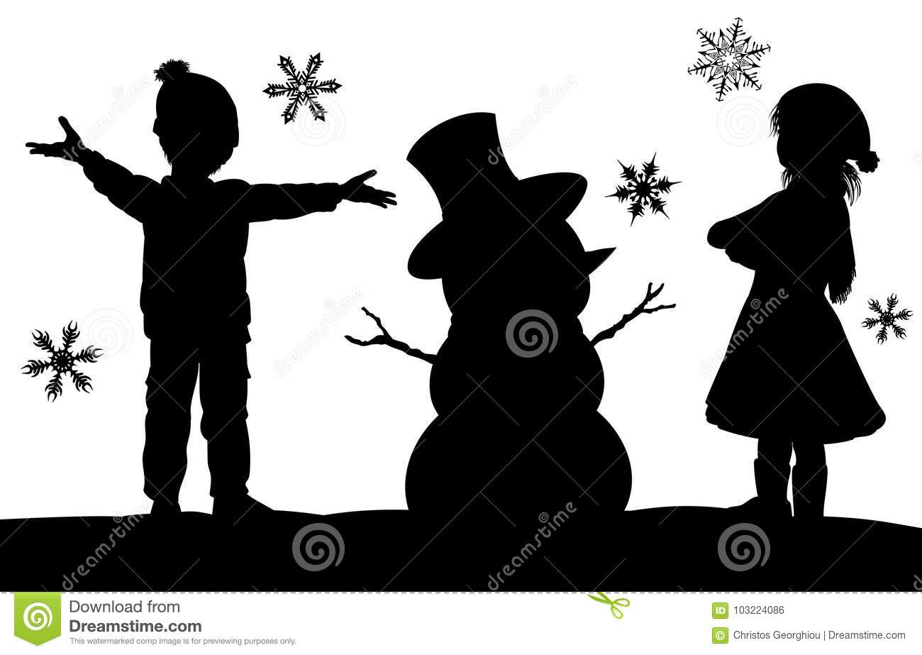 snowman silhouette stock illustrations 7 503 snowman silhouette stock illustrations vectors clipart dreamstime https www dreamstime com kids making snowman christmas silhouette scene christmas winter silhouette scene kids having fun snow building image103224086