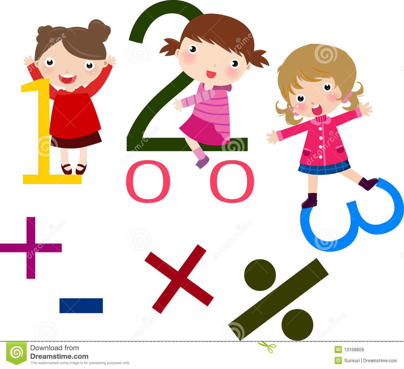 kids and math stock vector. illustration of school, schoolchildren