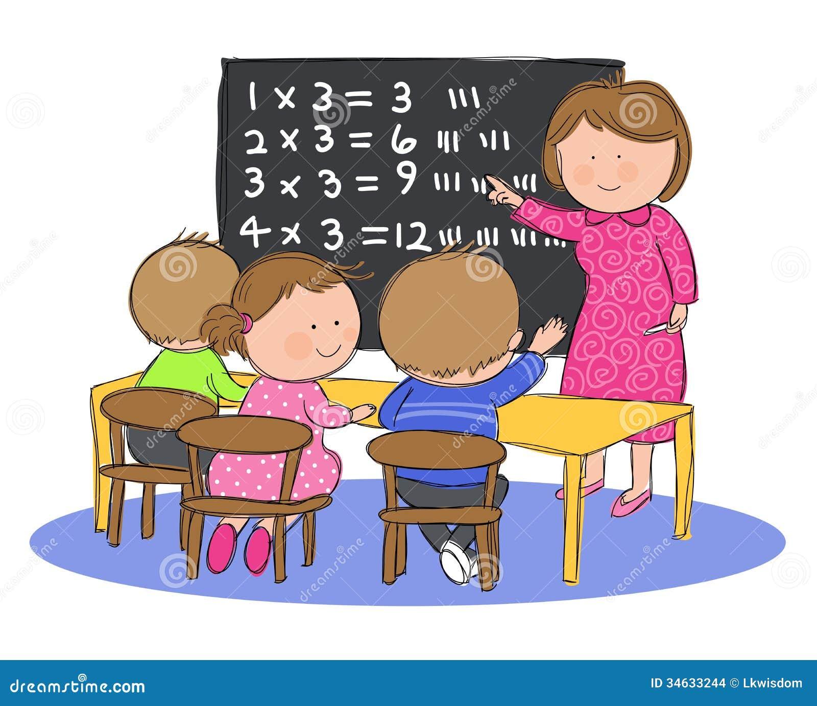 Worksheet Children Learning Maths children learning maths scalien kids in math class illustration 34633244 megapixl