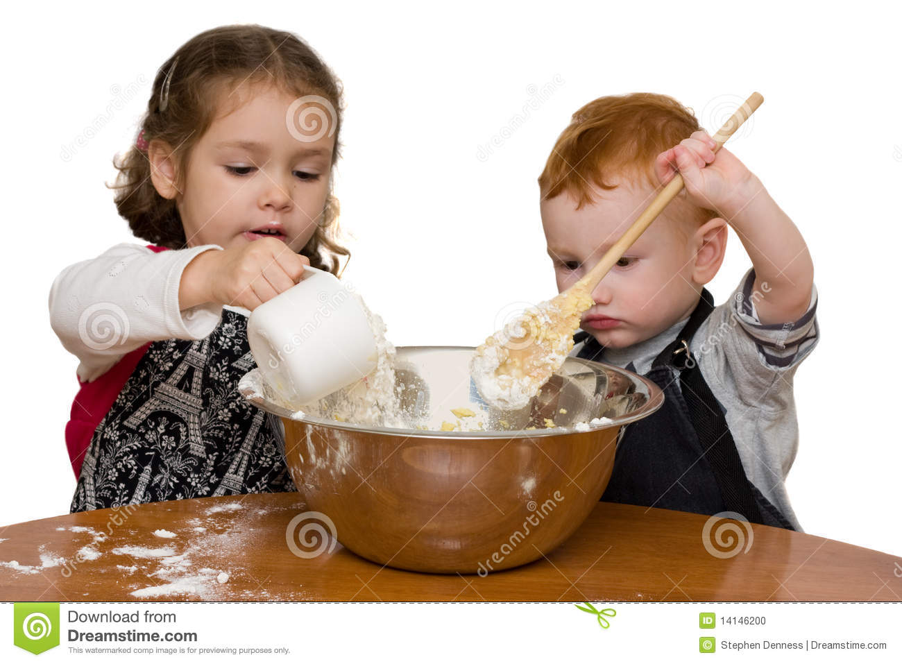 kids measuring and mixing in kitchen stock photo image 14146200 mixing bowl clipart black and white mixing bowl clipart black and white