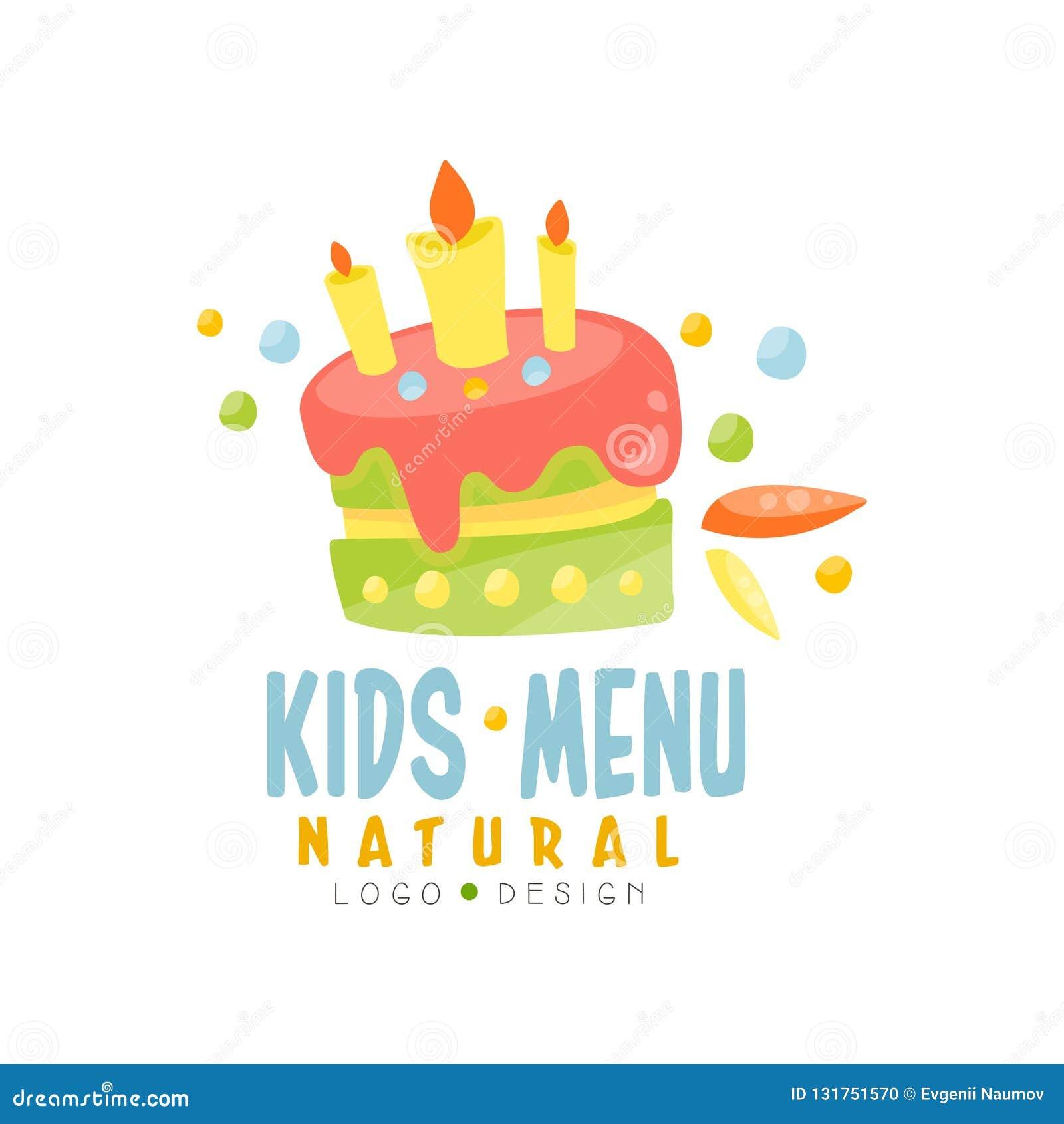Terrific Kids Menu Logo Design Healthy Organic Food Colorful Creative Personalised Birthday Cards Akebfashionlily Jamesorg