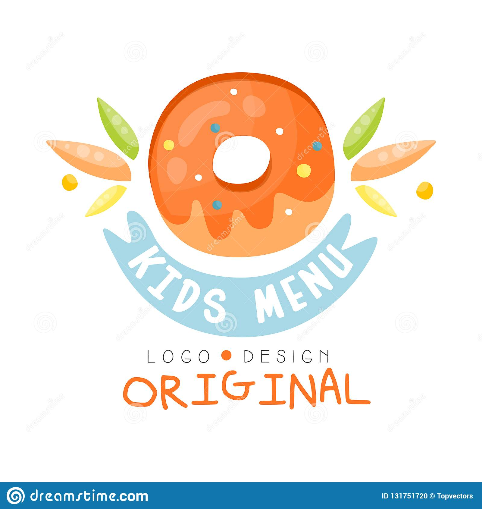 Donut Template | Kids Menu Logo Original Healthy Organic Food Colorful Creative