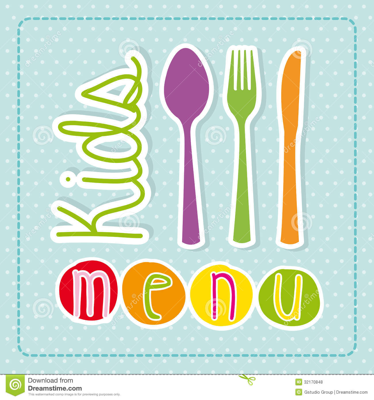 Kids Menu Royalty Free Stock Photos - Image: 32170848