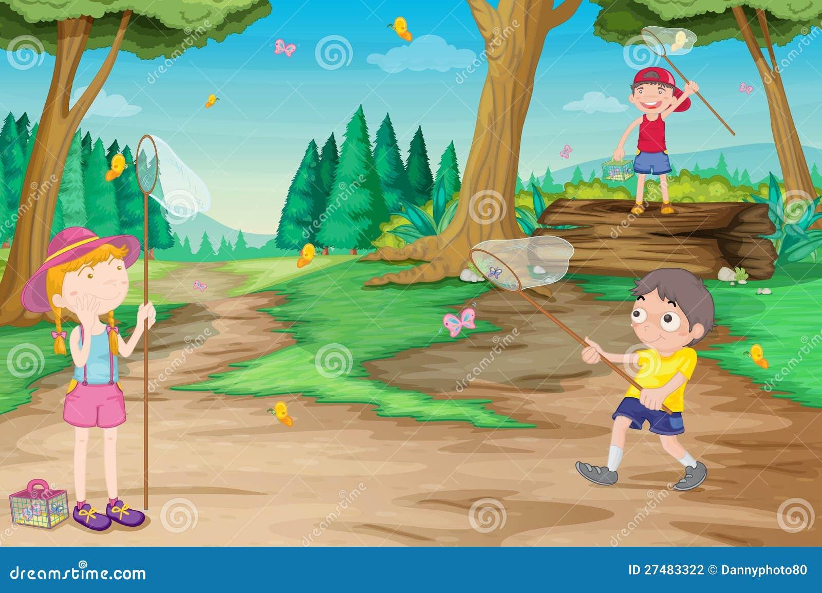 Kids in nature