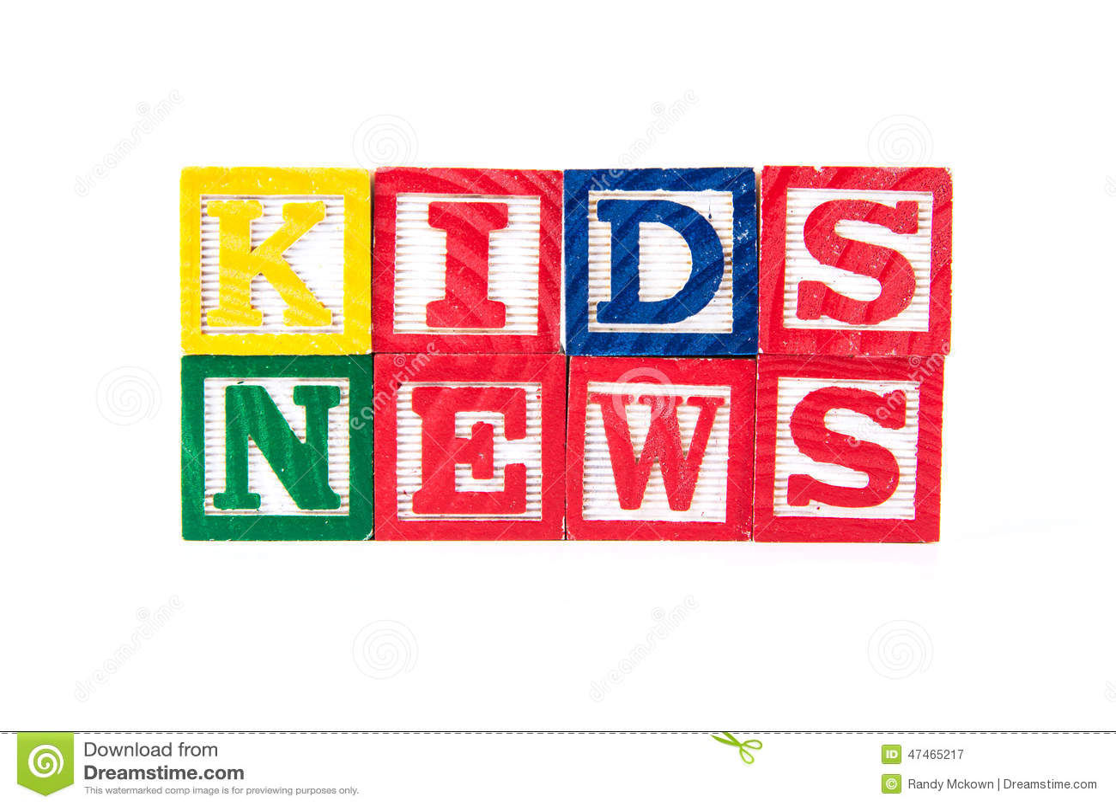 Kids News - Alphabet Baby Blocks On White Stock Image ...