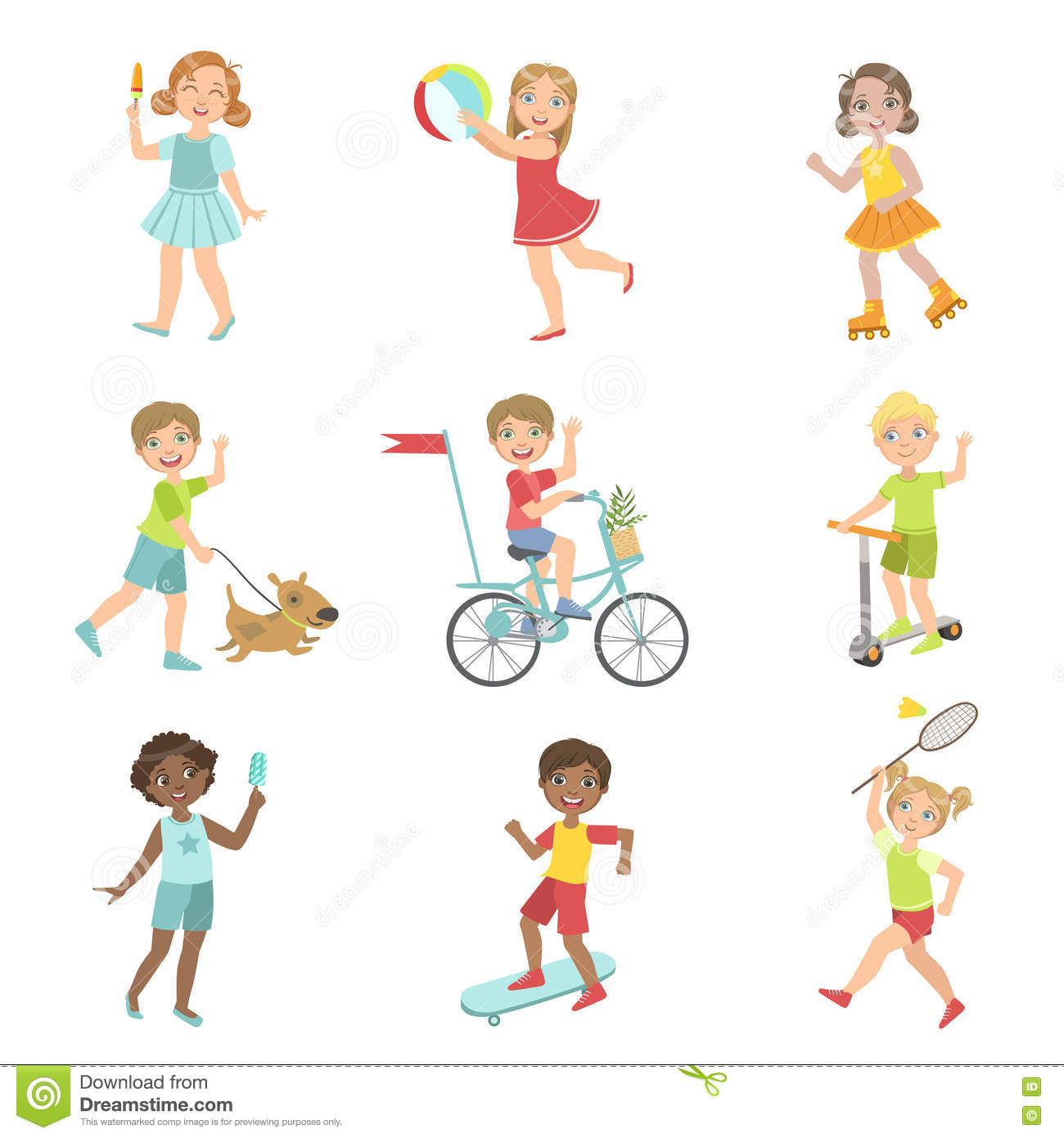 Image result for cartoon children outdoor activity