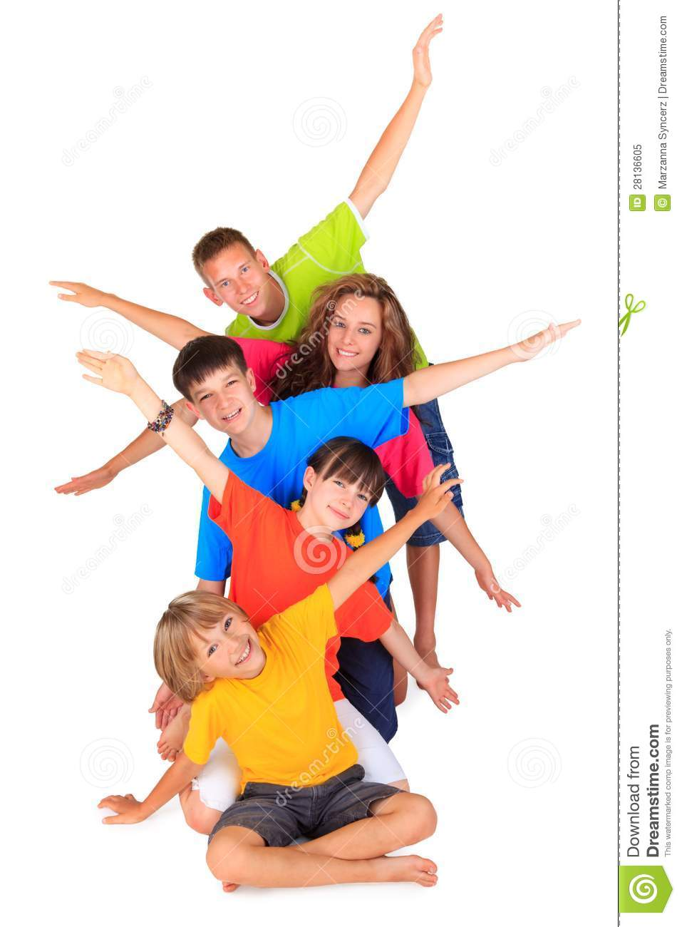 Kids with Outstretched Arms