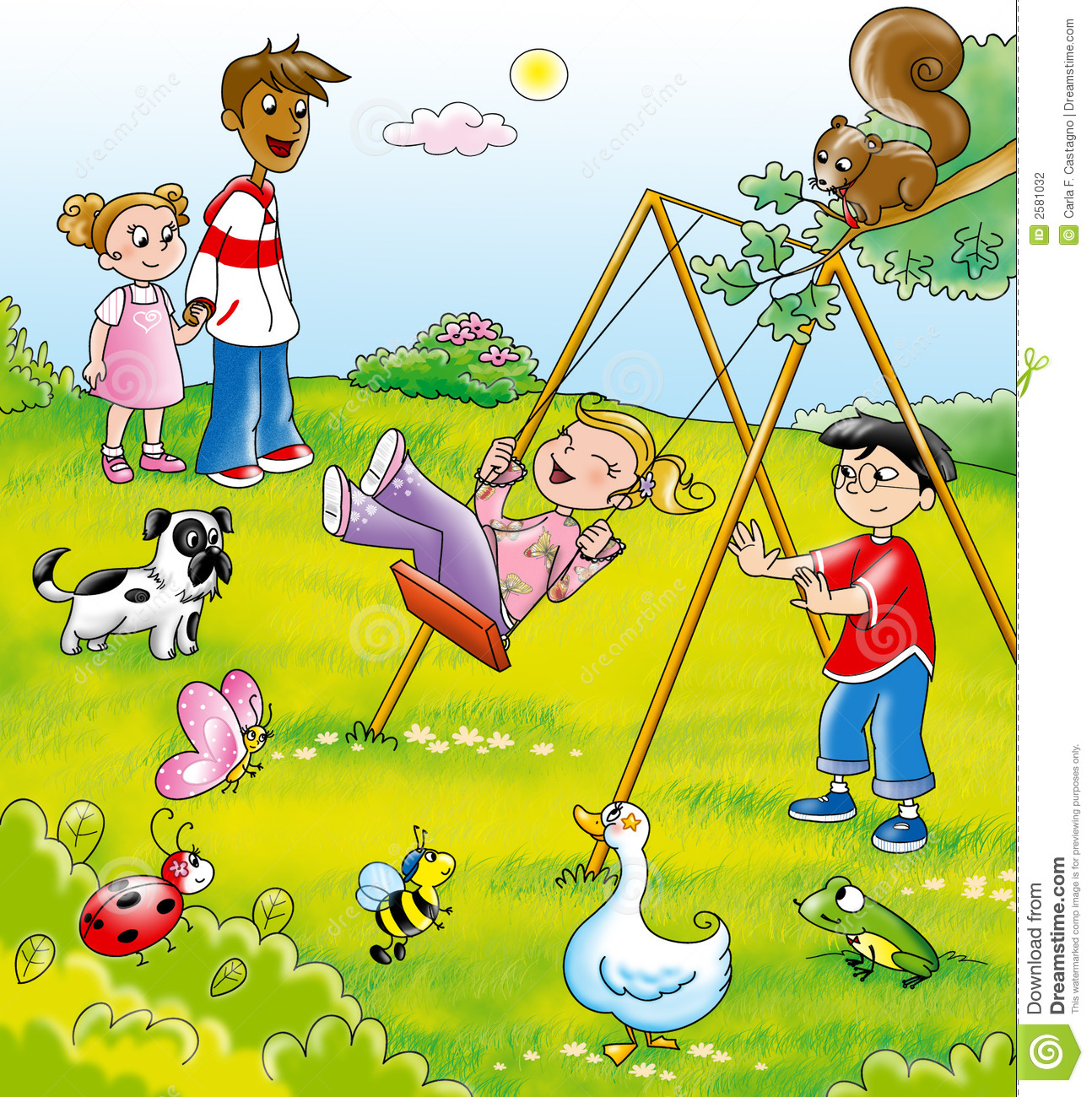 Displaying 20> Images For - Kids On Swings Clip Art...