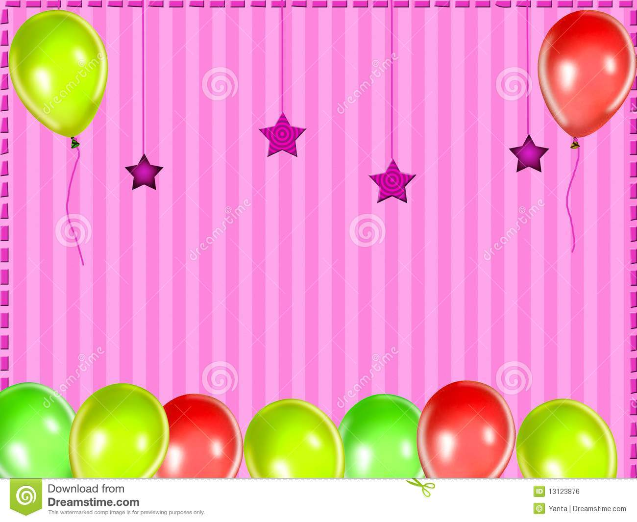 Kids Party Background Stock Illustration Image Of Decoration
