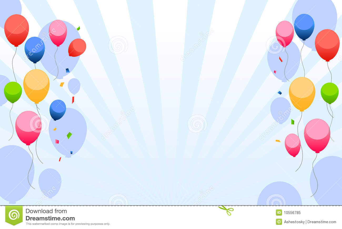 Kids Party With Balloons Background Stock Vector - Illustration of ...