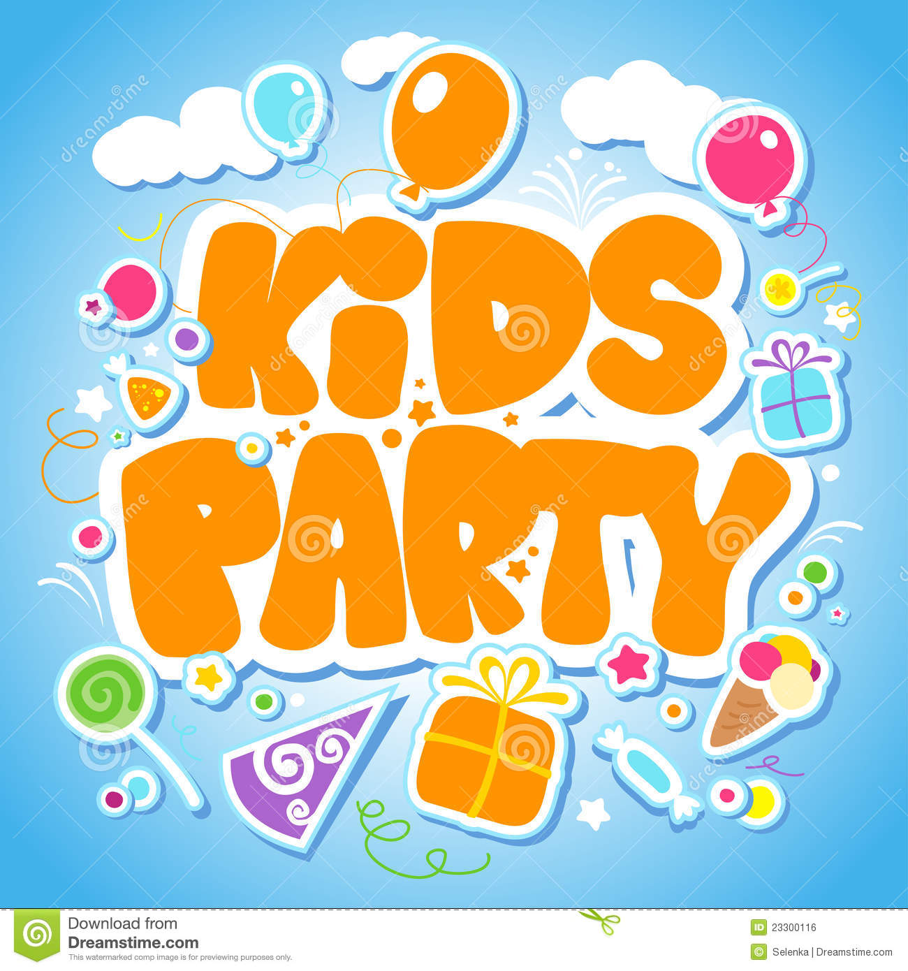 Kids Party Design Template Royalty Free Stock Image