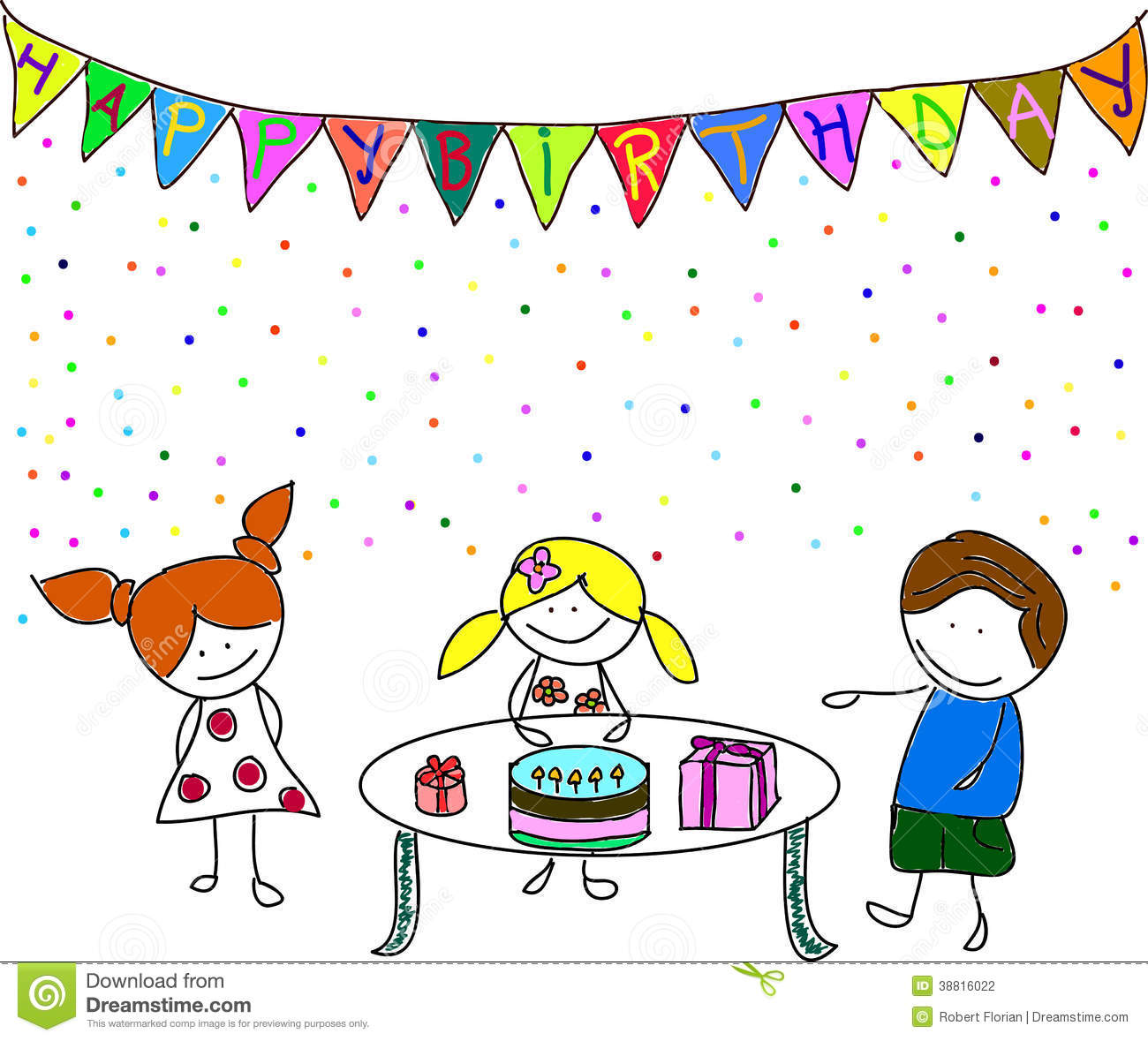 kids party stock vector  image of birthday  friends  face