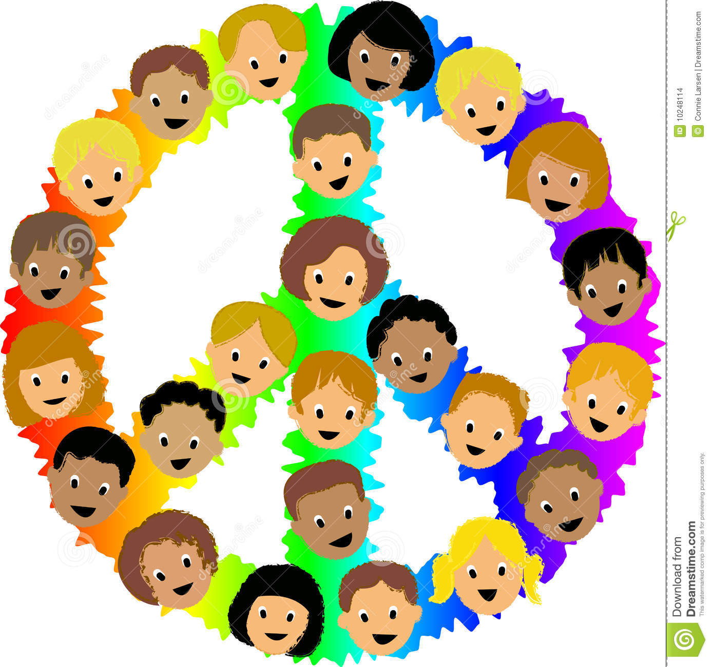 Kids peace signeps stock vector illustration of clipart 10248114 kids peace signeps biocorpaavc