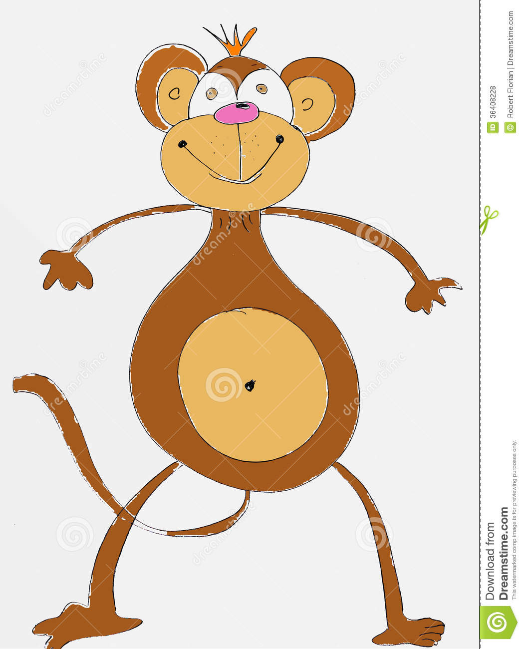 Kids Pencil Drawing Of A Monkey Royalty Free Stock Photos - Image ...