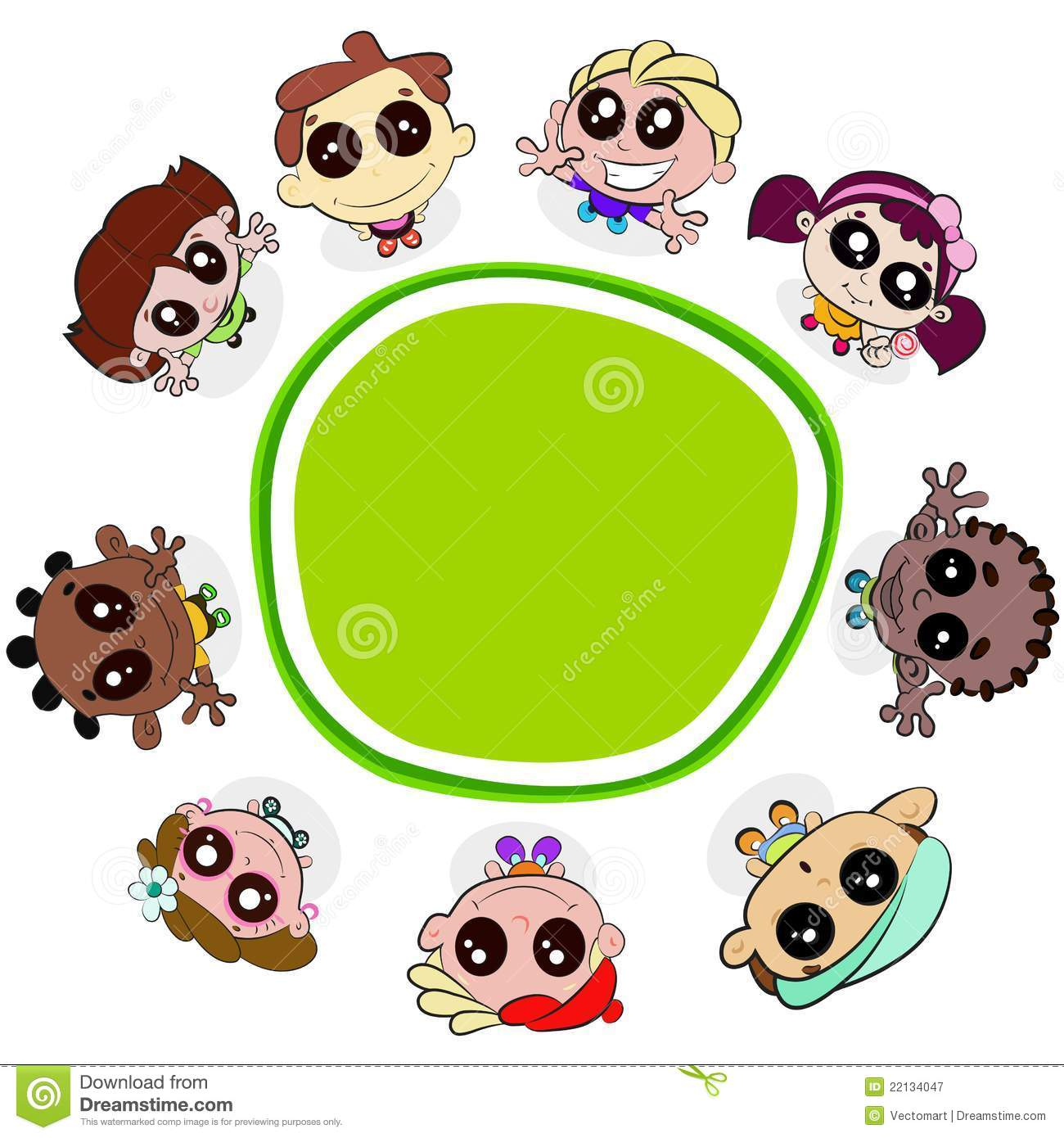 kids with placard stock vector illustration of clipart 22134047 rh dreamstime com