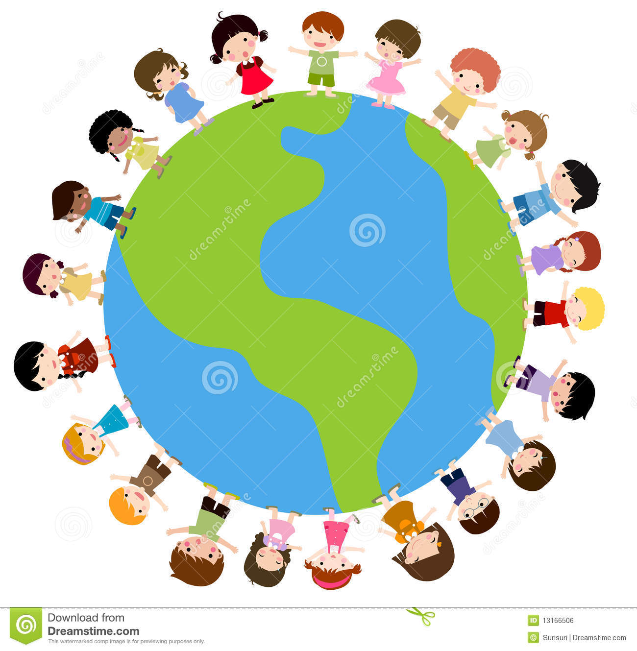 Kids And Planet Earth Royalty Free Stock Image - Image ...