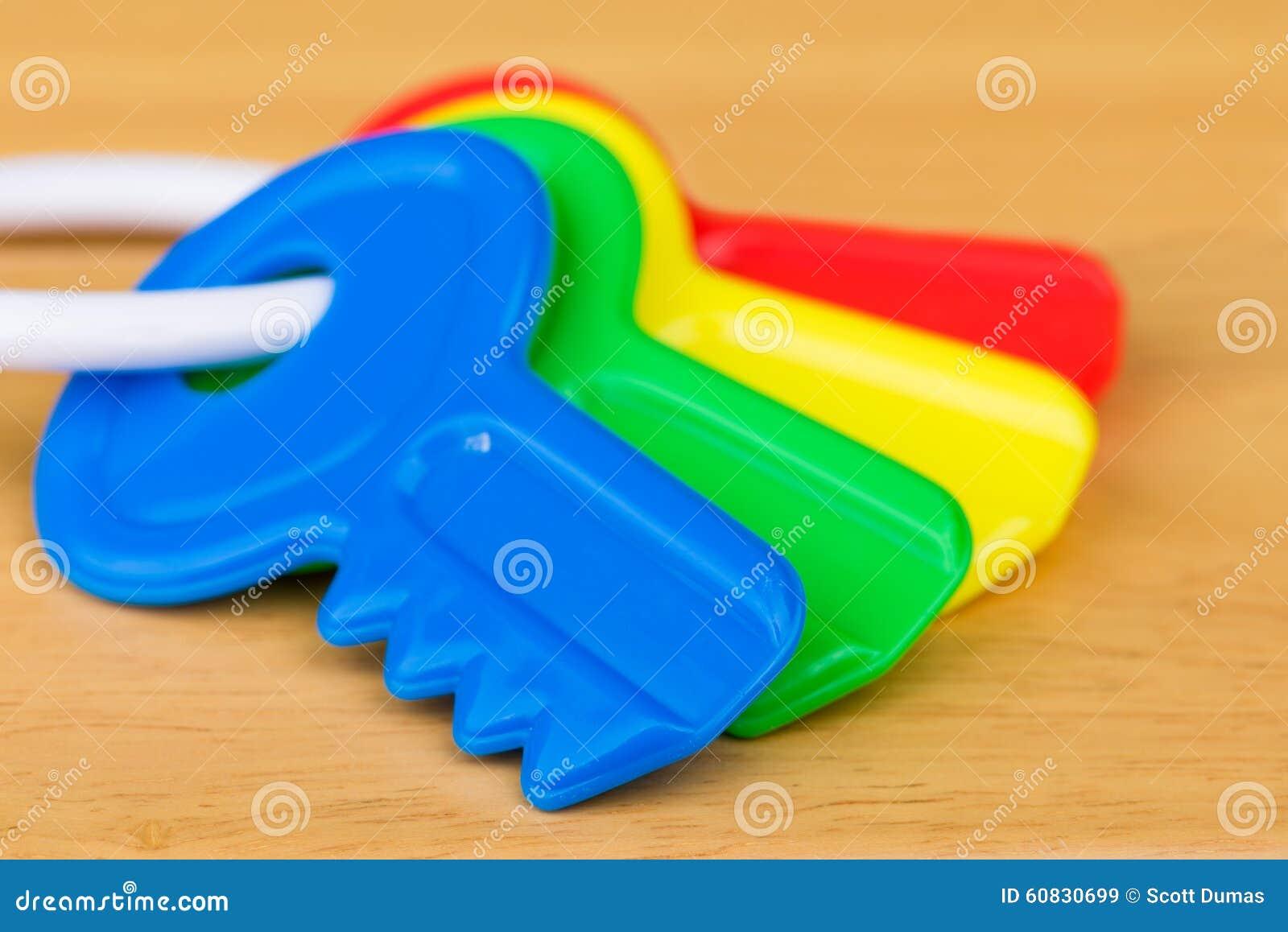 Kids Plastic Colorful Keys Stock Photo Image 60830699