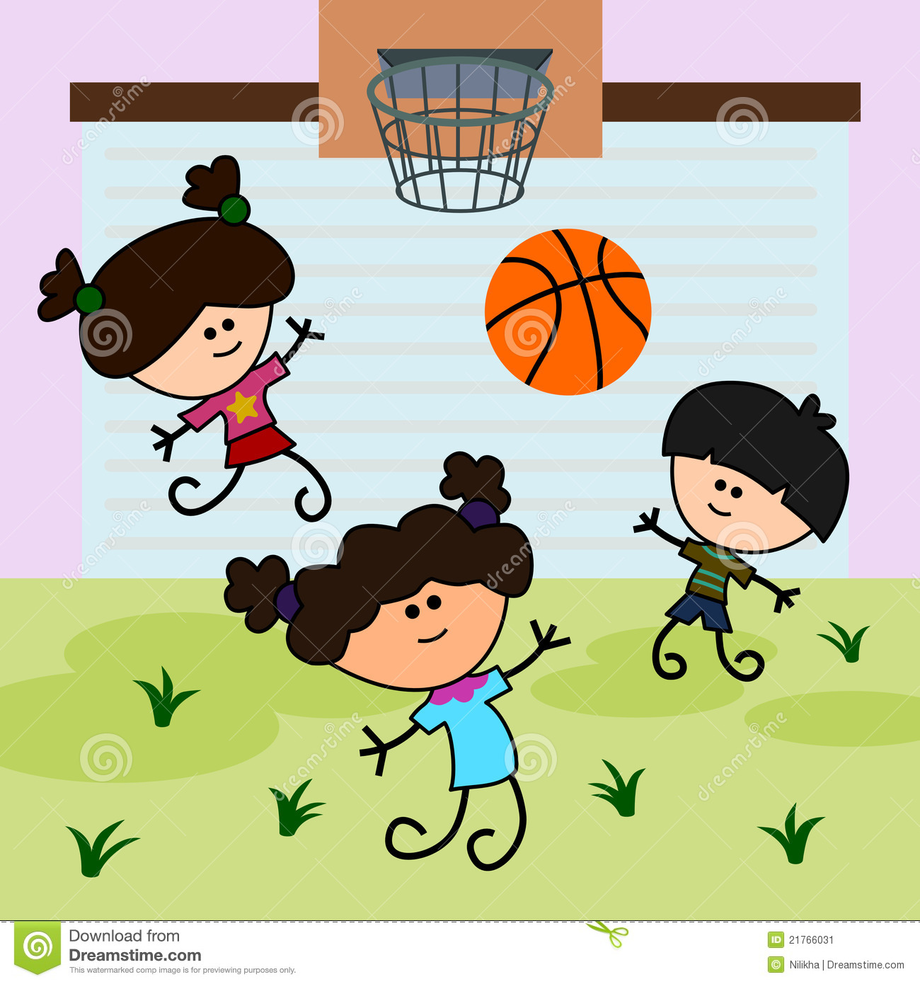 More similar stock images of ` Kids play basketball `
