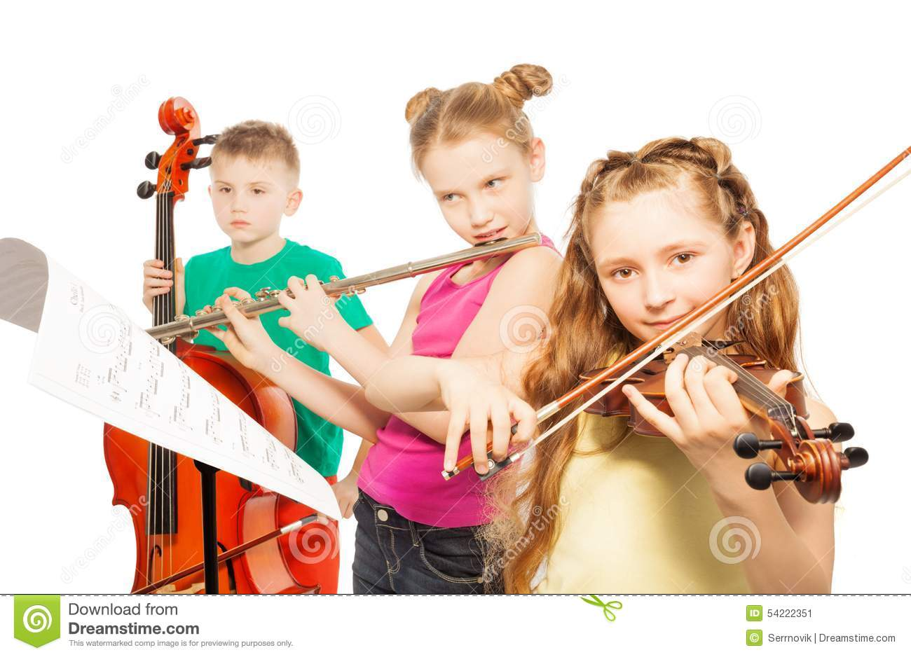 Worksheet Musical Instruments To Play kids playing musical instruments stock photos images pictures play on white background image