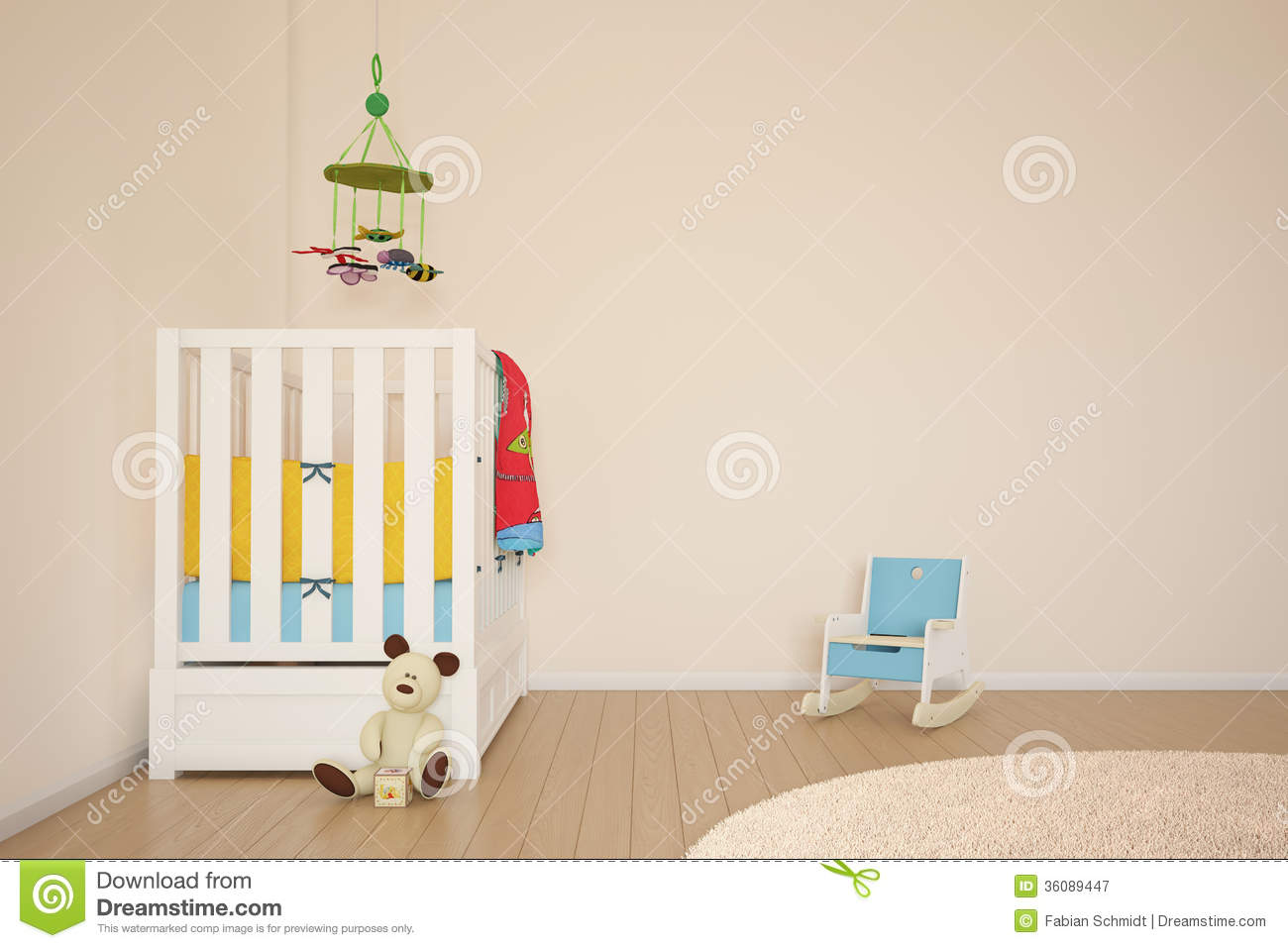 Kids play room with bed royalty free stock photography image 36089447 - Kids room image ...