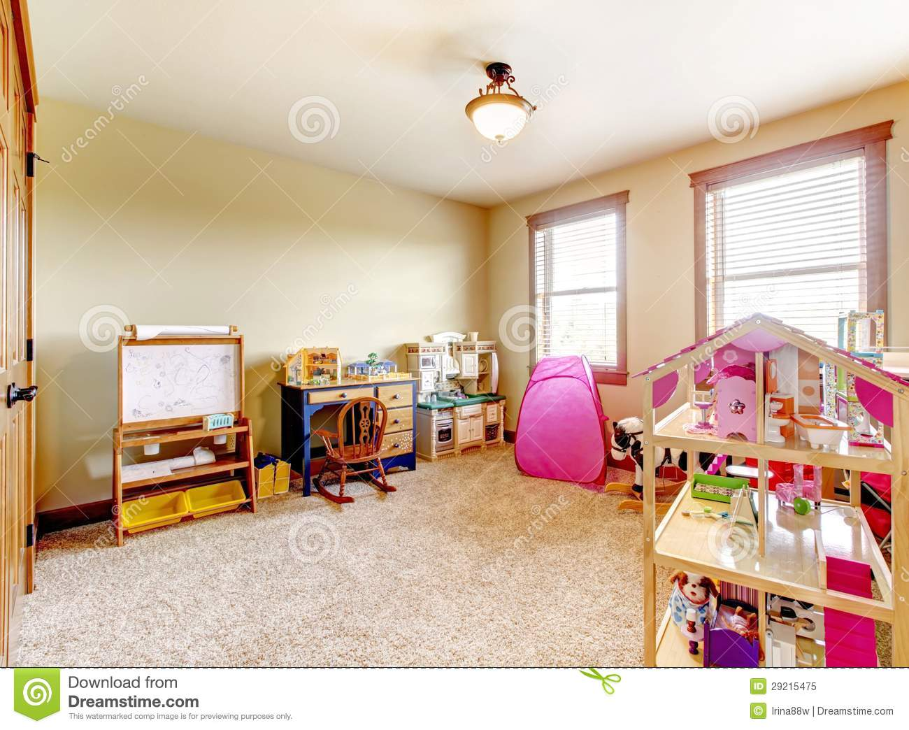 Kids play room with toys interior stock image image for Kids toy rooms