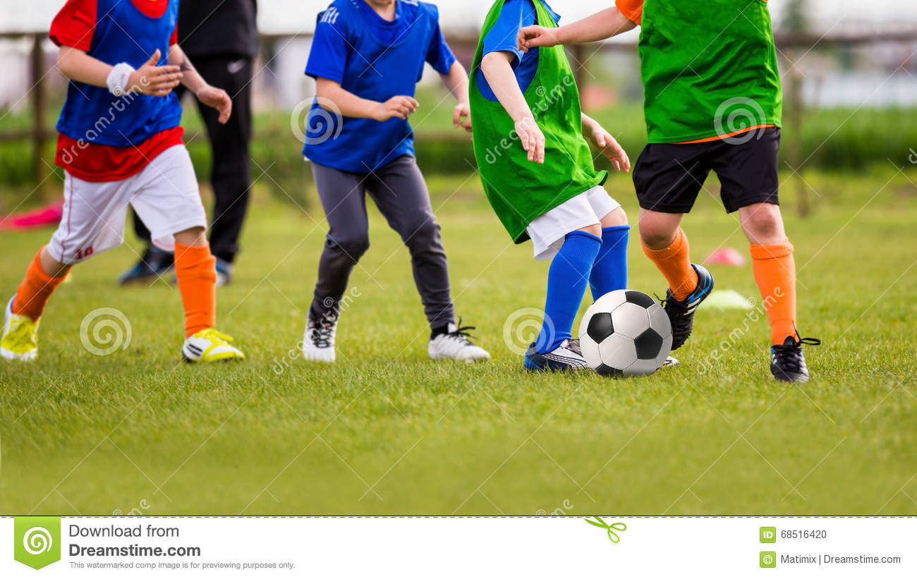 Should Kids Be Allowed To Play Soccer >> Kids Play Soccer Football Game Editorial Image Image Of Energy