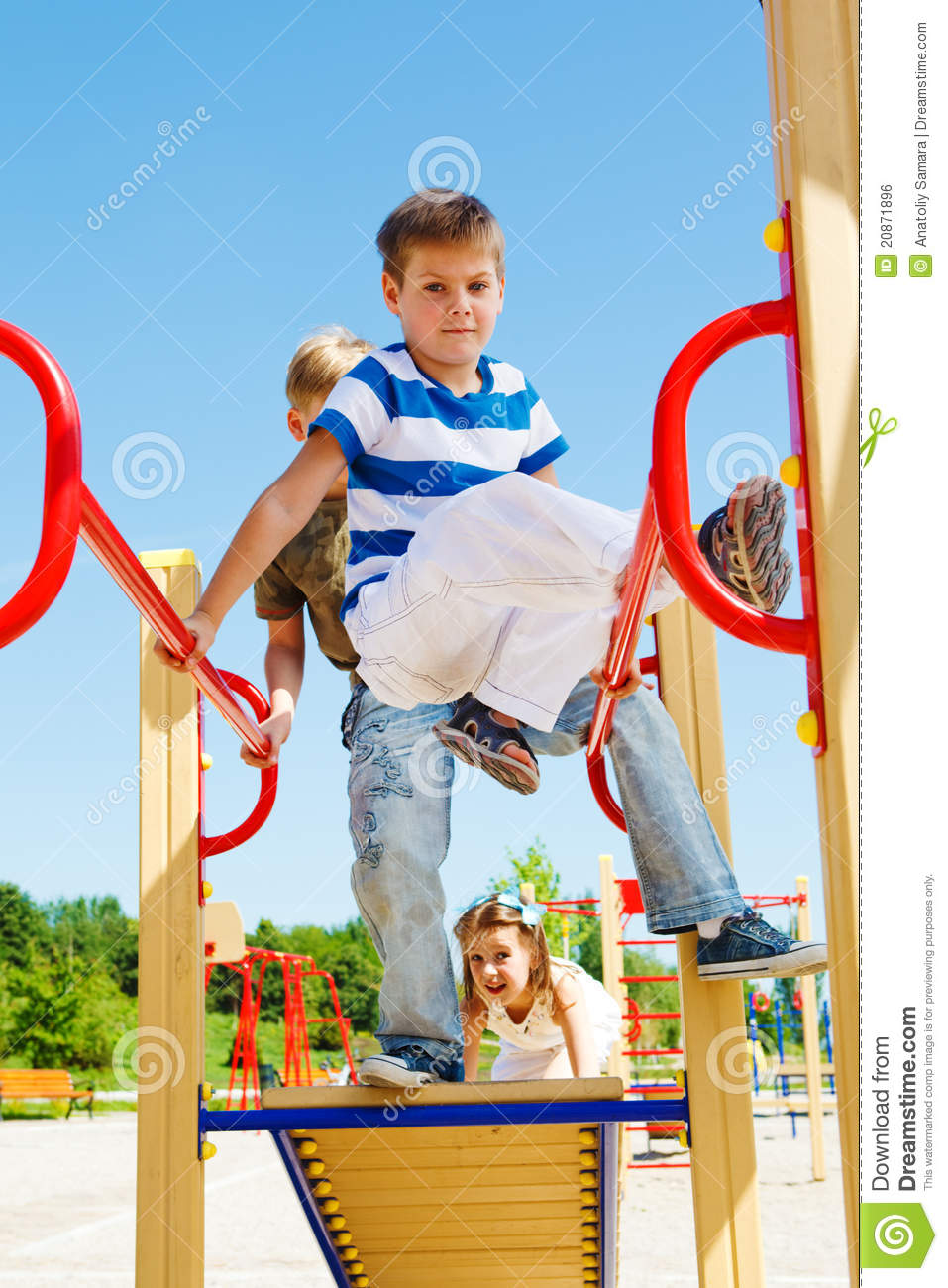 Kids on the playground stock photo. Image of little ...