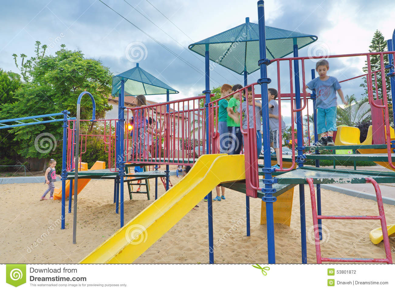 Kids In A Playground Editorial Photography - Image: 53801872
