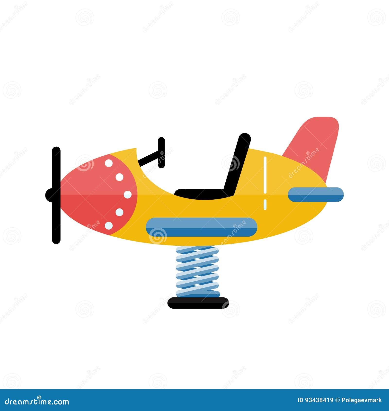 kids playground vector airplane in flat design children play ar