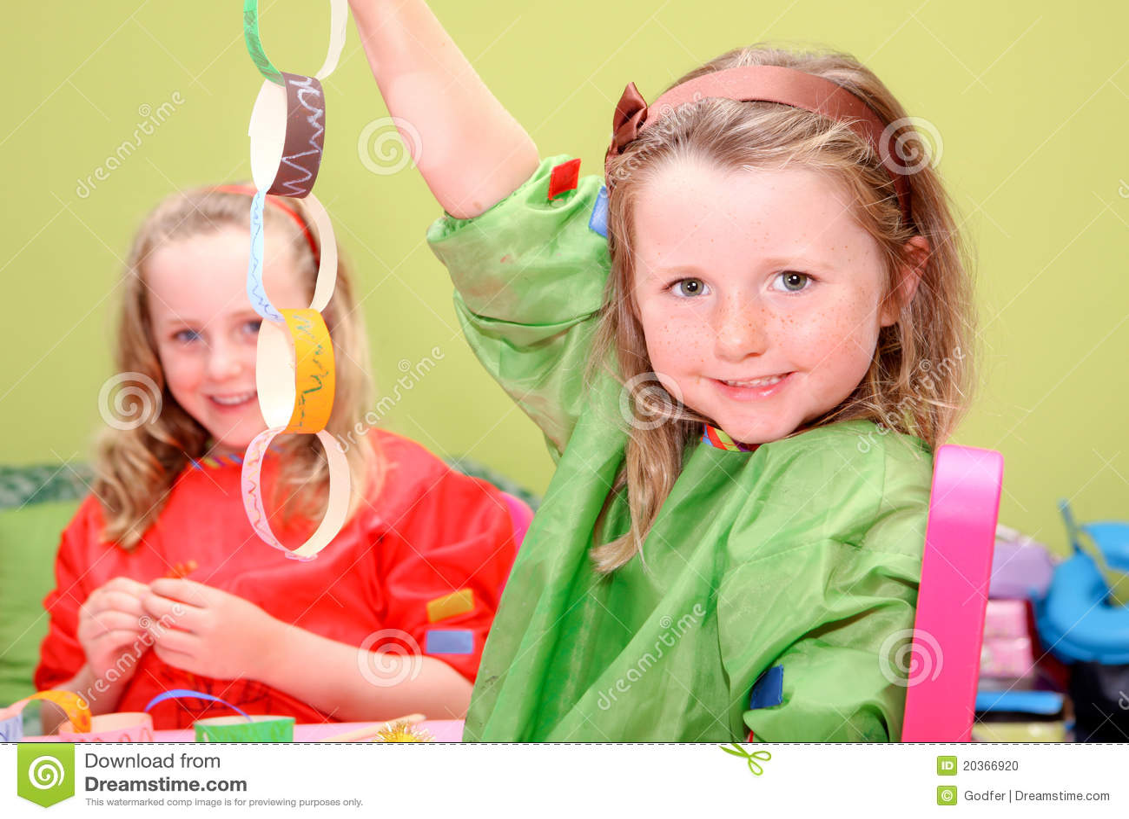 kids playing art and craft