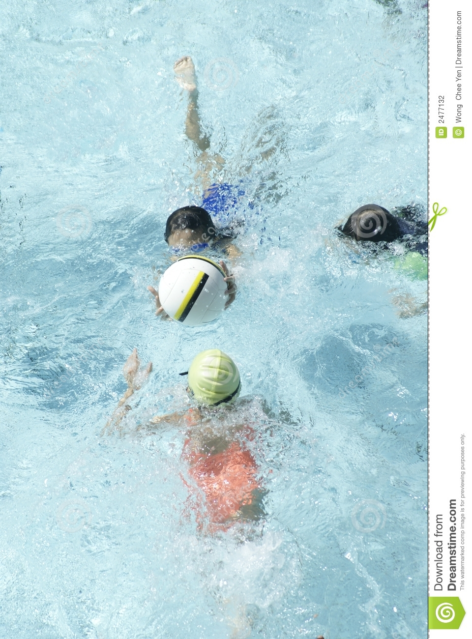 Kids Playing Ball In Pool Stock Photography - Image: 2477132